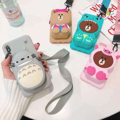 3D Dinosaur Pig Bear Wallet Soft Phone Case For IPhone 11 Pro X XS Max XR 6 7 8 • 4.99£