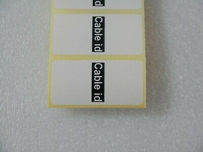 £2.44 • Buy 60 X Cable ID Labels Self Adhesive Identification Stickers Tags Plugs WHITE