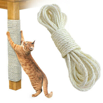33FT Cat Scratching Sisal Rope Hemp Craft Twisted Twine Scratch Board Post Toys • 5.99£