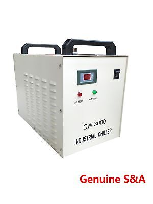 S&A CW-3000 Water Chiller Cool 50W 60W 80W CO2 Laser Tube 1.5KW CNC Engraver • 325£