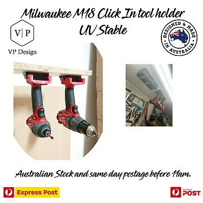 AU6.24 • Buy Milwaukee M18 Tool & Battery Holder Mount Bracket Storage 18v 18 V Drill Impact