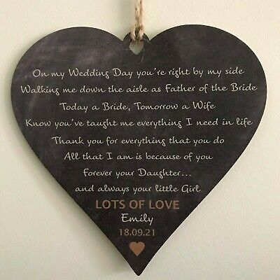 Father Of The Bride Gifts Wedding Favours Personalised FOB Dad Daughter Keepsake • 6.99£