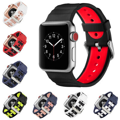 $ CDN12.41 • Buy For IWatch Watch Strap Series 4/3/2/1 Silicone For Apple Watch Band 38-44mm