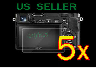 AU7.08 • Buy 5x Clear LCD Screen Protector Guard Cover Film For Sony Alpha A5000 A6000 Camera