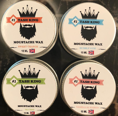 15ml Organic Moustache Wax Premium Quality TASH KING • 3.49£