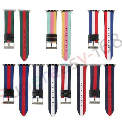 AU18.69 • Buy Leather Wrist Strap Apple Watch IWatch Band 38/40/42/44mm Series SE 6 5 4 3 2 1