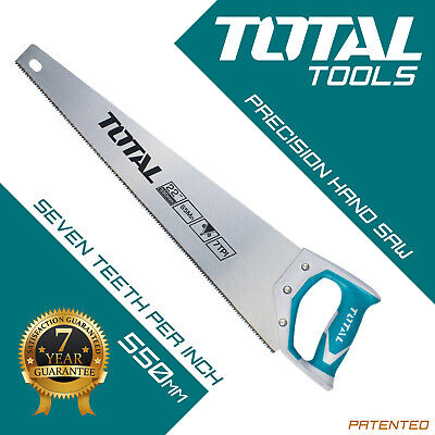 Total Tools - Wood Saw Hand Saw Heavy Duty 550mm Hardened Teeth Timber Woodwork • 10.69£