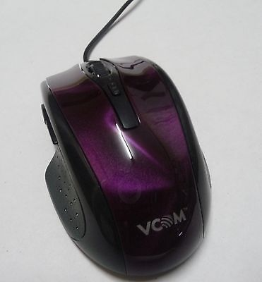 AU20.96 • Buy USB COMPUTER GAMING MOUSE - Black Purple Design  LED Optical/laser Laptop Pc NEW