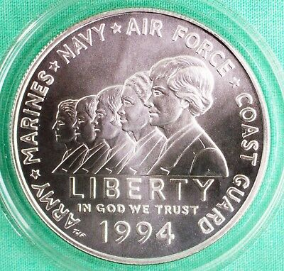 $32.99 • Buy 1994 W Women In Military Service BU 90% Silver Dollar Commemorative $1 Coin ONLY
