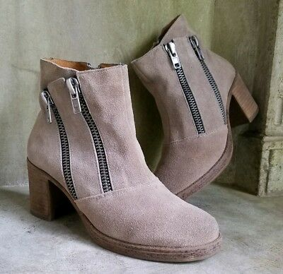 $10 • Buy MTNG Originals Beige Suede Ankle Boots Booties Sz 38 7.5
