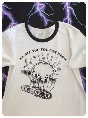 $ CDN20.19 • Buy Be All You Can Beer Army Beer Tank Ringer Shirt Retro Vintage Coors Budweiser Te
