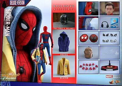 AU1407.88 • Buy Dhl Express Hot Toys 1/6 Spider-man Homecoming Mms426 Peter Parker Deluxe Ver