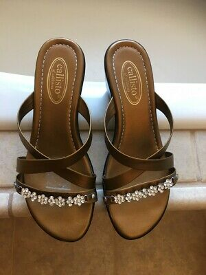 $25 • Buy Callisto Gold Rhinestone Sandals  -  Size 7