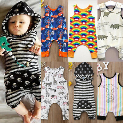 UK Newborn Kids Baby Boy Girl Cotton Romper Playsuit Clothes Outfits Summer Lot • 6.49£