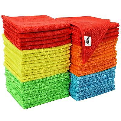 £3.39 • Buy Pack Of 3x 6x 12x Microfibre Home Kitchen Tea Towels Dusters Cleaning Dish Cloth