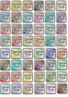 Tim Holtz Distress Oxide Ink Pads Ranger CHOICE Of 63 Colours - FREE P&P & NEW • 6.25£