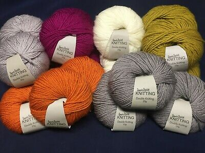 Choose Your Colour 100g Wool 200 Metres Double Knit Knitting Yarn Balls DK • 2.49£