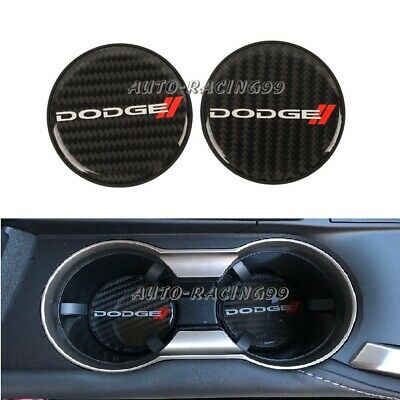 $13.88 • Buy 2x Dodge Carbon Fiber Car Cup Holder Pad Water Cup Slot Non-Slip Mat Accessories