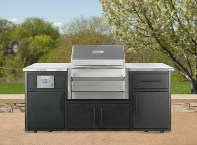 $8399 • Buy Memphis Outdoor Kitchen With Pro Built-In Wood Pellet Grill With WiFi & Smoker