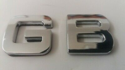 £3.35 • Buy NEW GB CHROME SILVER LETTERS BADGE EMBLEM, Self Adhesive,  27mm Tall,