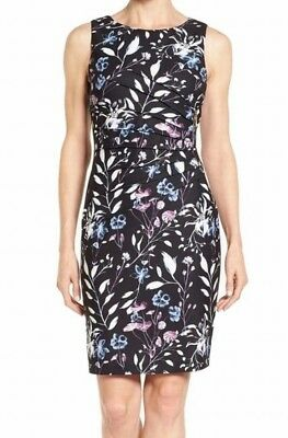 $ CDN82.29 • Buy New Ivanka Trump Women's Size 8 Black Floral Starburst Sheath Dress $138