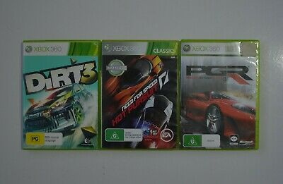 AU32 • Buy Lot Of 3 Dirt 3 Need For Speed Hot Pursuit, Project Gotham Racing 3 Xbox 360 PAL