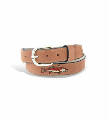 $28.99 • Buy Zep-Pro Zep Pro Embroidered Leather Canvas Belt Redfish Red Fish Select Size