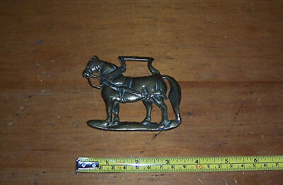 Vintage Shire Horse Brass Horse In Harness Lowe? See D • 14.50£