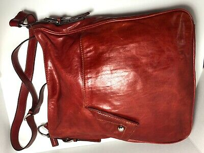 $ CDN25.30 • Buy Danier Genuine Leather Wine-brown Large Unisex Crossbody Messenger Laptop Bag