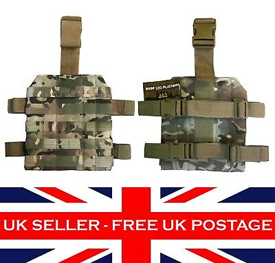 MTP Multicam ATP Molle DROP LEG PLATFORM Airsoft Military Army Tactical Panel UK • 13.99£