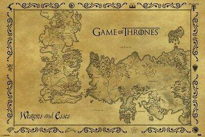 £6.99 • Buy (073) New Maxi Poster Game Of Thrones Westeros And Essos Map