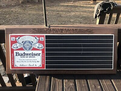 $ CDN113.35 • Buy Vintage Budweiser Long Plastic Chalkboard Menu Bar Sign