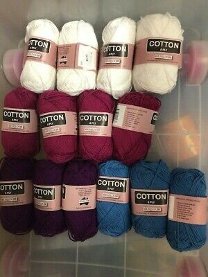 AU2.50 • Buy Heirloom 100% Cotton 8 Ply Yarn Various Colours