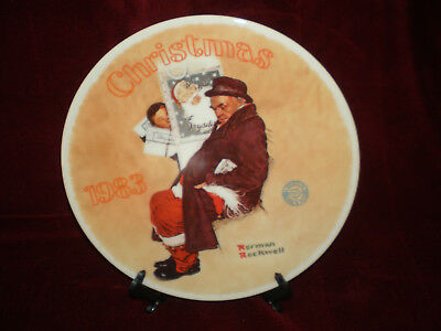 $ CDN25.27 • Buy NOS - Norman Rockwell 1983 Christmas Plate  SANTA In The SUBWAY  - Knowles