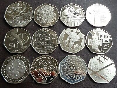 £11.99 • Buy 1992-2021 Commemorative 50p (Fifty Pence) Proof Coin - Choose Your Year