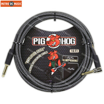 $ CDN30.25 • Buy Pig Hog 1/4  Amp-Grill Tweed Guitar Instrument Cable Cord 10ft Right-Angle