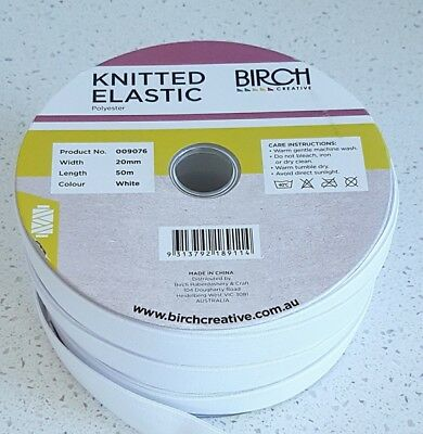 AU8 • Buy Elastic - Knitted-  3mm -6mm-12mm 20mm  Birch Brand Top Quality