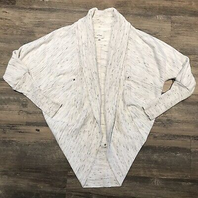 """3646850441ae83 Wilfred Aritzia XS Diderot Cocoon Cardigan Sweater Open Front """"As Is"""" Space  Dye •"""