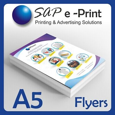 £94 • Buy A5 Flyers-Leaflets Single/Double Side Printed Full Colour 130gsm Silk/Gloss