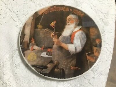 $ CDN11.94 • Buy Norman Rockwell Collector Plate Christmas 1984 Santa In His Workshop Limited Ed