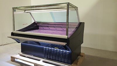 SERVE OVER DISPLAY COUNTER 1.5m CHILLER MEAT  FISH FRIDGE DELI COUNTER SQUARE • 1,950£