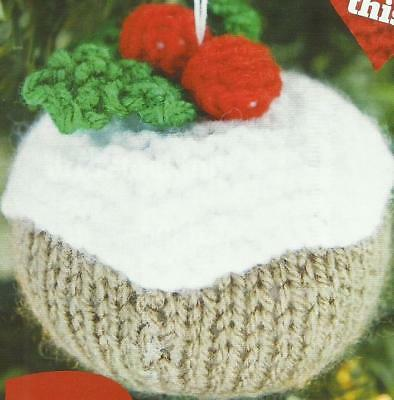 Knitting Pattern For Christmas Pudding Tree Decorations • 0.99£