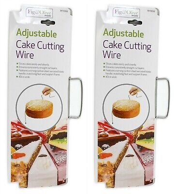 2x Cake Cutter Bread Wire Slicer Cutting Leveller Decorating Utensil Baking Tool • 4.99£