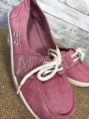 45e68dcf2ff MERONA Women s Pink Flats Boat Shoes Loafers Size 8 • 13.99