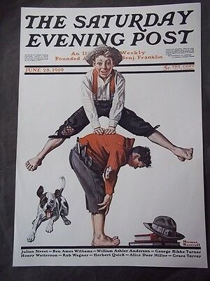 $ CDN12.58 • Buy Saturday Evening Post June 28 1919 Norman Rockwell (COVER ONLY) Reprint
