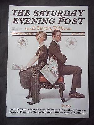$ CDN10.19 • Buy Saturday Evening Post October 9 1920 Norman Rockwell (COVER ONLY) Reprint