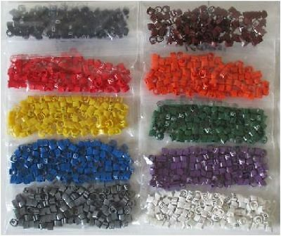 £1.46 • Buy Cable Marker Packs (100pcs) CSA 0.75 - 4mm² Chevron Cut Colour Code Numbers