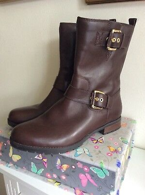 ROCKPORT ADIPRENE By Adidas Brown Leather Calf Length Ankle Boots Worn Once UK5 • 30£