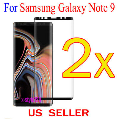 $ CDN4.15 • Buy 2x Full Cover Curved Clear Screen Protector Guard Film For Samsung Galaxy Note 9