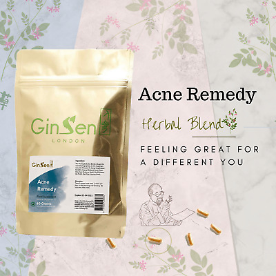 GinSen® 60 Grams Powder Remedy For Acne Treatment Clear Spots Pimples Fast • 29.99£
